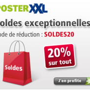 – 20% sur tous les produits photos chez posterXXL