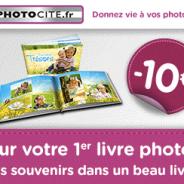 Photocité : Réduction de 10€ sur votre 1er livre photo