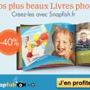 40% de réduction sur votre premier livre photo par Snapfish