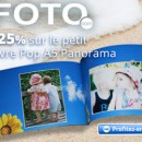 25% de réduction sur le petit livre Pop A5 Panorama