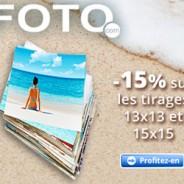 15% de réduction sur les tirages photo 13×13 et 15×15 cm