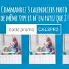 2 calendriers achetés = 1 gratuit avec Smartphoto