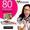PHOTOWEB offre 80 tirages photo !