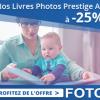Le livre photo Prestige A4 avec 25% de réduction immédiate