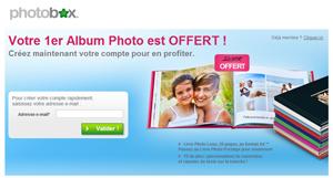 Commandez un livre photo gratuit sur le site de Photobox